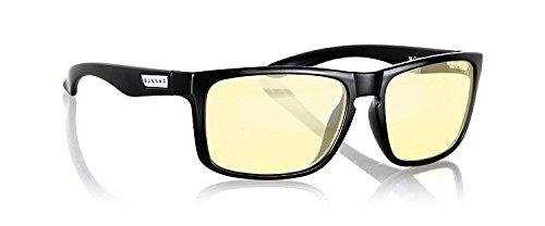 - GUNNAR Gaming and Computer Eyewear/Intercept, Amber Tint - Patented Lens, Reduce Digital Eye Strain, Block 65% of Harmful Blue Light