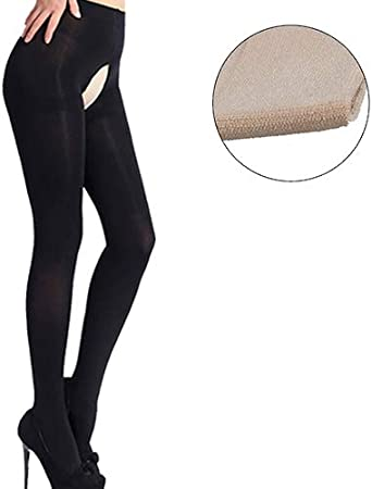1Pair High Gloss Pantyhose Tights Elastic Shiny Stockings Crotchless Hosiery