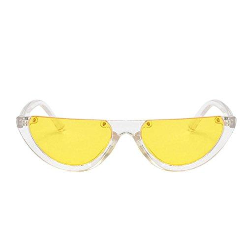 Lunettes de Soleil Ansenesna Retro Vintage Narrow Cat Eye Lunettes de Soleil Pour Femmes Clout lunettes Lunettes Cadre en Plastique G
