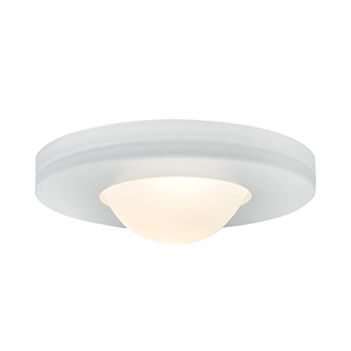 Edged Slim Disk - JESCO Lighting PK503WH Straight-edged Slim Disk with Frosted Glass Lens