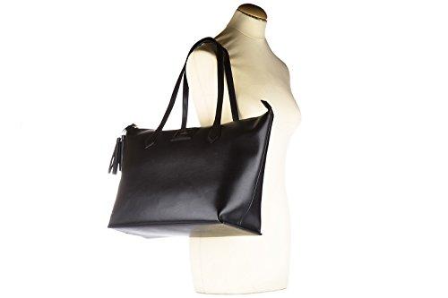 Hogan Schultertasche Leder Damen Tasche Umhängetasche Bag Schwarz