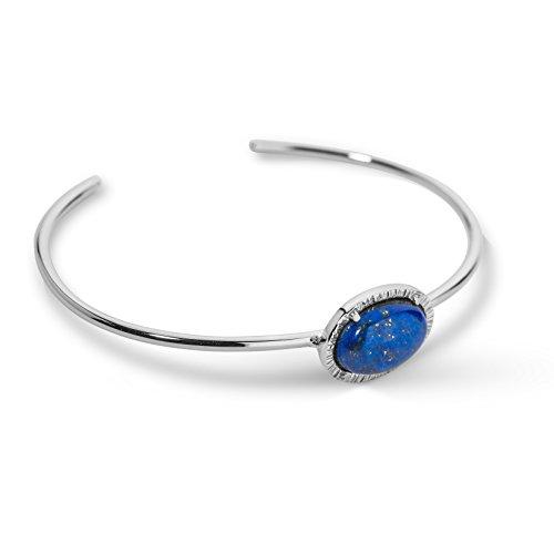 Carolyn Pollack Sterling Silver Blue Lapis Gemstone Cuff Bracelet - - Bracelet Cuff Sterling Delicate