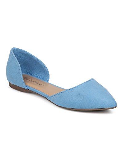 Breckelles Women Toe Balletto Piatto - Casual, Ufficio, Tutti I Giorni - Dorsay Flat - Gg19 By Blue
