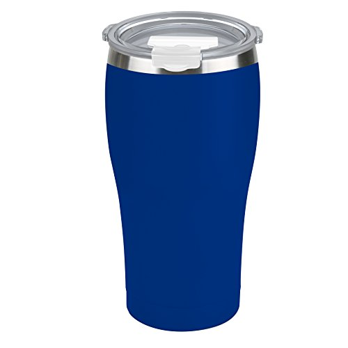 Tahoe Trails 16 oz Stainless Steel Tumbler Vacuum Insulated Double Wall Travel Cup With Lid, Deep Blue