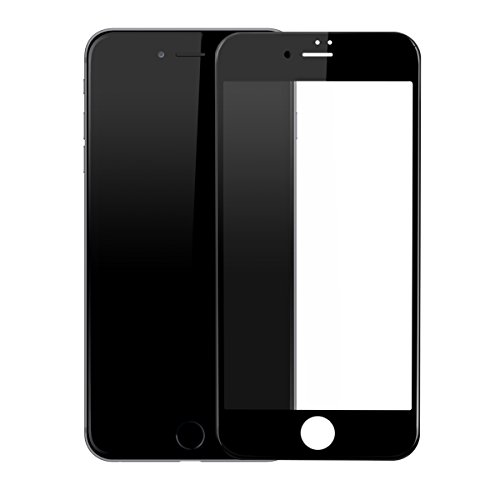 Baseus 0.23mm PET Soft 3D Tempered Glass Film for iPhone 7 Plus 3D Curved Surface Full Edge Coverage Soft Edge Screen Impact and Scratch Resistance 0.23mm Thickness 9H Hardness Precise Fitness (Black)