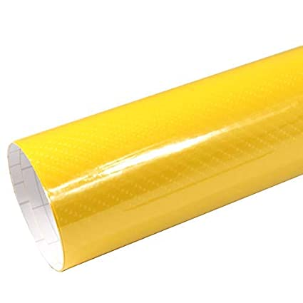 Rapid Teck/® AutoFolie Serie z560 5D Hochglanz Carbon Orange 1m x 1,52m selbstklebende Premium Car Wrapping Folie mit Luftkanal