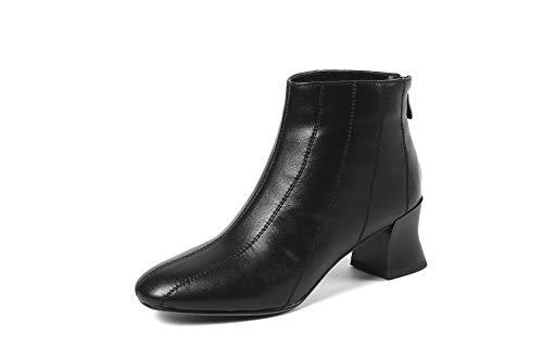 Stivali Stivali Stivali con Donna Punta a CXQ CXQ CXQ CXQ Stivaletti Tacco Basso Tacco Warm Black da R4OqwwS