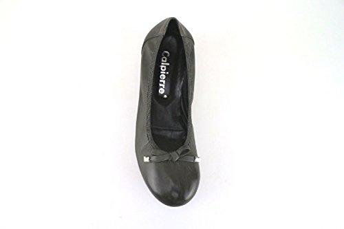 Calpierre - Zapatos de vestir de Piel para mujer Gris gris