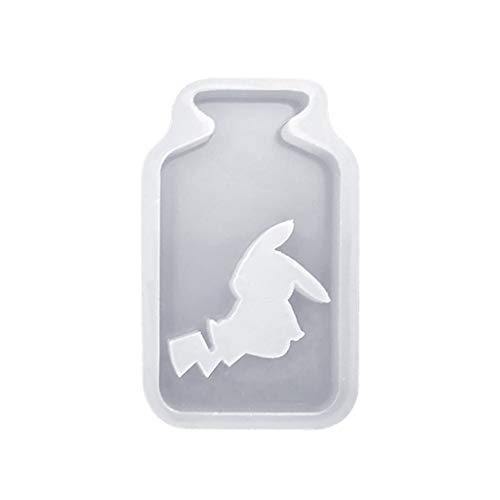 cici store Silicone Mold, DIY Crafts Art Hollow Epoxy Resin Bottle Jewelry Pendant Creative Cute Molds Decoration,3#