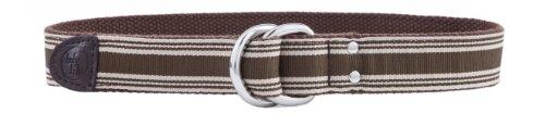 Brown Stripe Toddler Belt D-Ring (Age 0-12 mos., Waist up to 19.5
