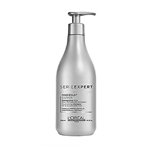 L'OREAL SERIE EXPERT MAGNESIUM SILVER NEUTRALIZING SHAMPOO ( new packaging ) , 16.9 Oz.