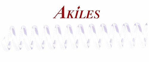 - Akiles Spiral Coil Binding Spines 10mm (3/8 x 12-inch) 4:1 (pk of 100) White