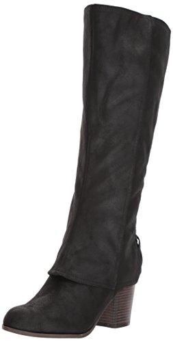Fergalicious Women's Tootsie Wide Calf Knee High Boot, Black