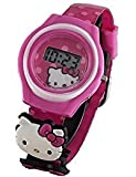 Hello Kitty Little Girl's Pink Digital Watch with 2 Charms HK3002