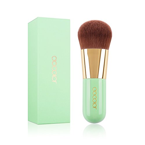 Docolor Kabuki Foundation Face Powder Brush Portable Makeup Cosmetic Tool - Foundation Green Powder