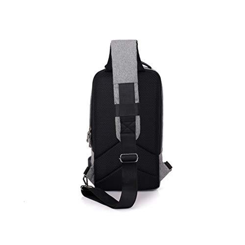Sportive Monospalla Outdoor Zaino Impermeabilie Bag Viaggio Uomo Grigio Petto Ragazzi Marsupio Spalla Crossbody Usb Da Borsello Mnory Hiking Sling XO6f6q
