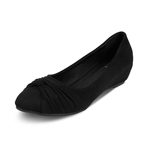 tresmode Womens Stylish Wedge Heel Ballerina