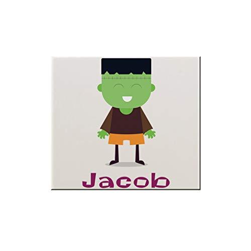 Style In Print Custom Text Halloween Child Frankenstein Costume Ceramic Accent Mural Tile Backsplash - 6