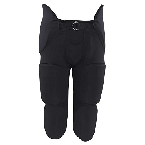 Russell Youth Integrated 7 Piece Pad Football Pants - Black-