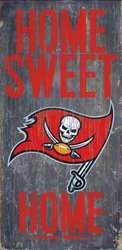 Tampa Bay Buccaneers Wood Sign - Home Sweet Home - Store Tampa Outlet