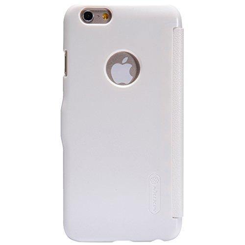 (HS-TOP  ® neuen NILLKIN Case Cover PU Schutzhülle Leder Tasche Flip Conque für Apple iPhone 6 4,7 Zoll, Weiß