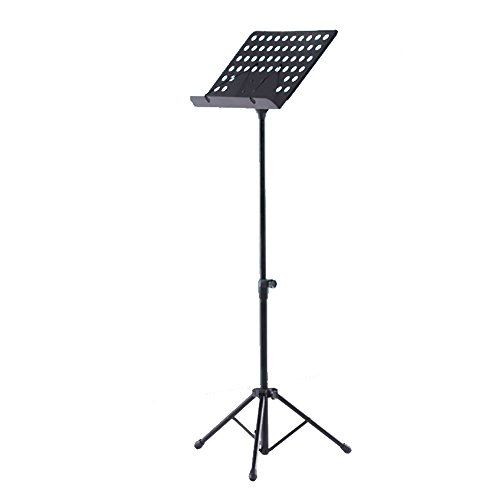 Music Stand Foldable Orchestral Music Stand Flanger 1 Pack - Black