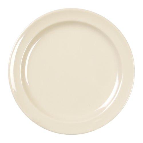 (Excellanté Milan Melamine Tan Collection 10-1/4-Inch Round Dinner Plate, Tan, 12-Piece)