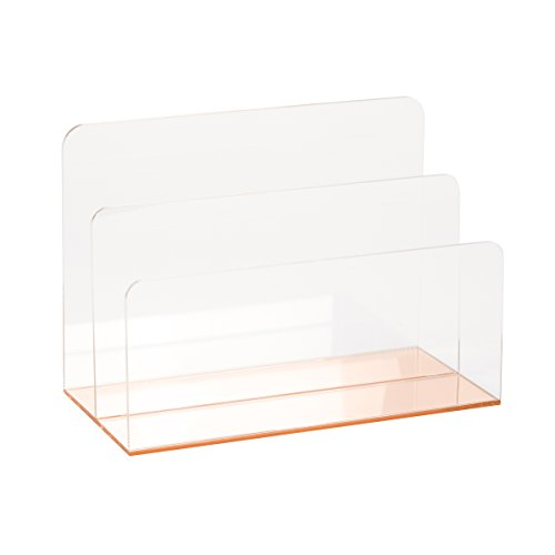 C.R. Gibson Clear Acrylic File Holder, Mirror Panel,...