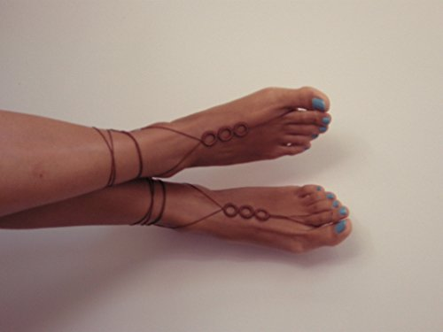 barefoot sandles, beaded, Barefoot Sandals, brown, beach sandals, handmade sandals, brown wedding, READY TO SHIP