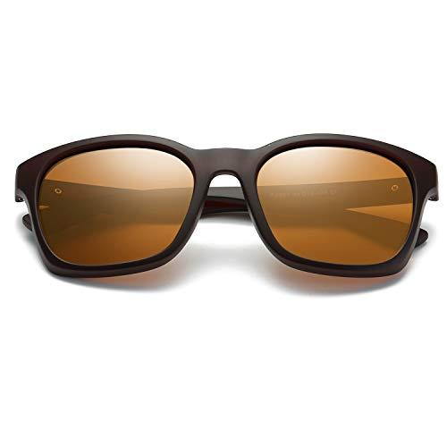 polarizadas Exteriores Sun Green Color Hombres de Sol Gafas Clarity de Yellow para protección Lentes WEATLY Glasses para UV400 PtwfOx