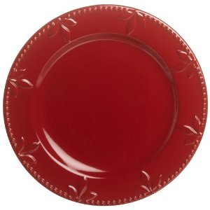 Signature Housewares Sorrento Collection 11-Inch Round Dinner Plate, Ruby Antiqued Finish