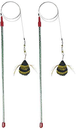- Go Cat Cat Catcher Da Bee Cat Toy, Handmade in the USA (1 Bee) (2-Pack)