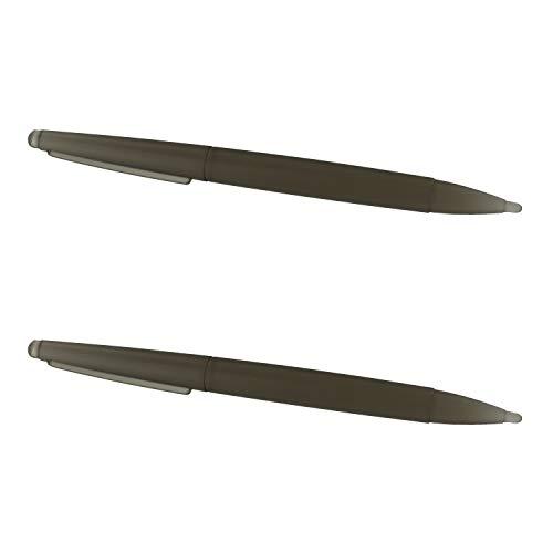 Assecure 2 x pro large big semi transparent black stylus pen for Nintendo DS 2 X Black Stylus