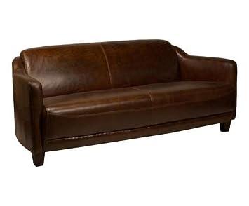 Le Drugstore Modern sofá Gentleman Piel Cigar: Amazon.es: Hogar