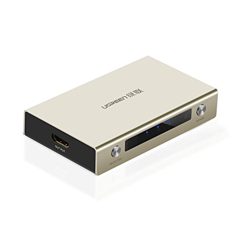 UGREEN HDMI Switch 4K HDMI Hub 3 in 1 out HDMI Distribution with Zinc Alloy Case for All HDTVs, Blu-ray Players, Xbox 360,PS3, PS4, and Other HDMI Devices by UGREEN (Image #7)
