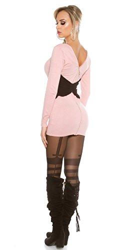 KouCla - Vestido - ajustado - Básico - Manga Larga - para mujer Rosa