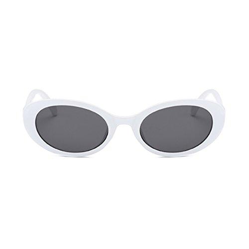 Boîte soleil hommes Noir Fashion lunettes lunettes ovale soleil Dintang femmes rétro et Blanche mode de Gris de O8FZcqqdH