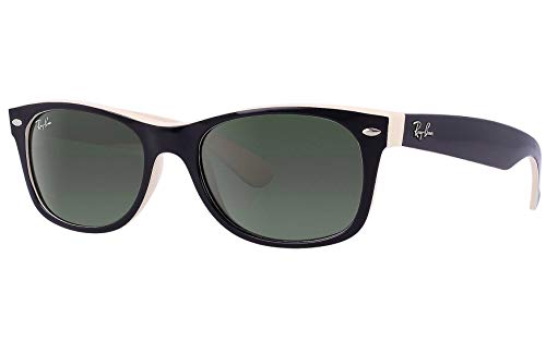 e807b07a75 Ray Ban RB2132 875 55 Black on Beige New Wayfarer Sunglasses Bundle-2 Items