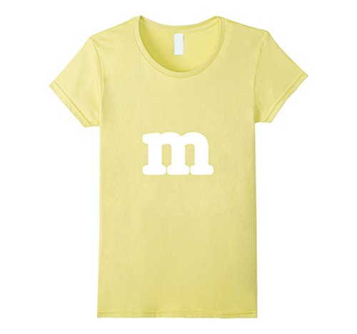 Womens Funny M Candy Letter Halloween Costume T-shirt Small (M Costumes Female)