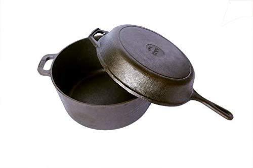 Rock Tawa Cast Iron Dutch Oven, 5 L (Black)