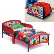 Mickey Mouse Toddler Bed with BONUS Collapsible Toy Box by DeltaToddler