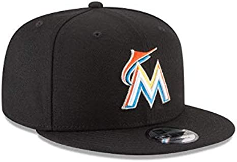 New Era 59Fifty Hat Miami Marlins Authentic Home Black Fitted Cap 70440171