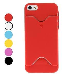 Solid Color Unique Designed Hard Case for iPhone 5/5S (Assorted Colors) --- COLOR:Orange
