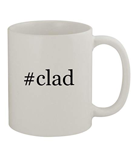 #clad - 11oz Sturdy Hashtag Ceramic Coffee Cup Mug, White