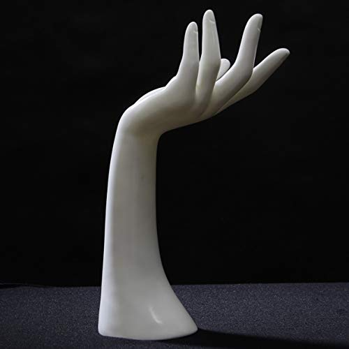 (WellieSTR 1 Piece Mannequin Hand Finger Ring Bracelet Bangle Jewelry Display Stand Holder Jewelry Display Stand Holder (white))