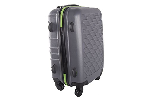 Valigia trolley rigido PIERRE CARDIN grigio mini bagaglio a mano ryanair