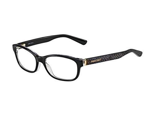 Jimmy Choo Python - JIMMY CHOO 0VSB Black Python Eyeglasses