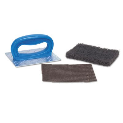 Griddle Pad Holder Kit, 4'' x 5 1/4'', Blue, 10/Carton