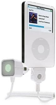 White DLO AutoPod Car Charger for Apple iPod