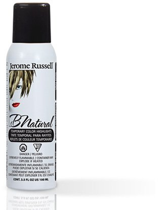 Jerome Russell B Natural (True Black) Temporary Hair Color Spray 3.5oz